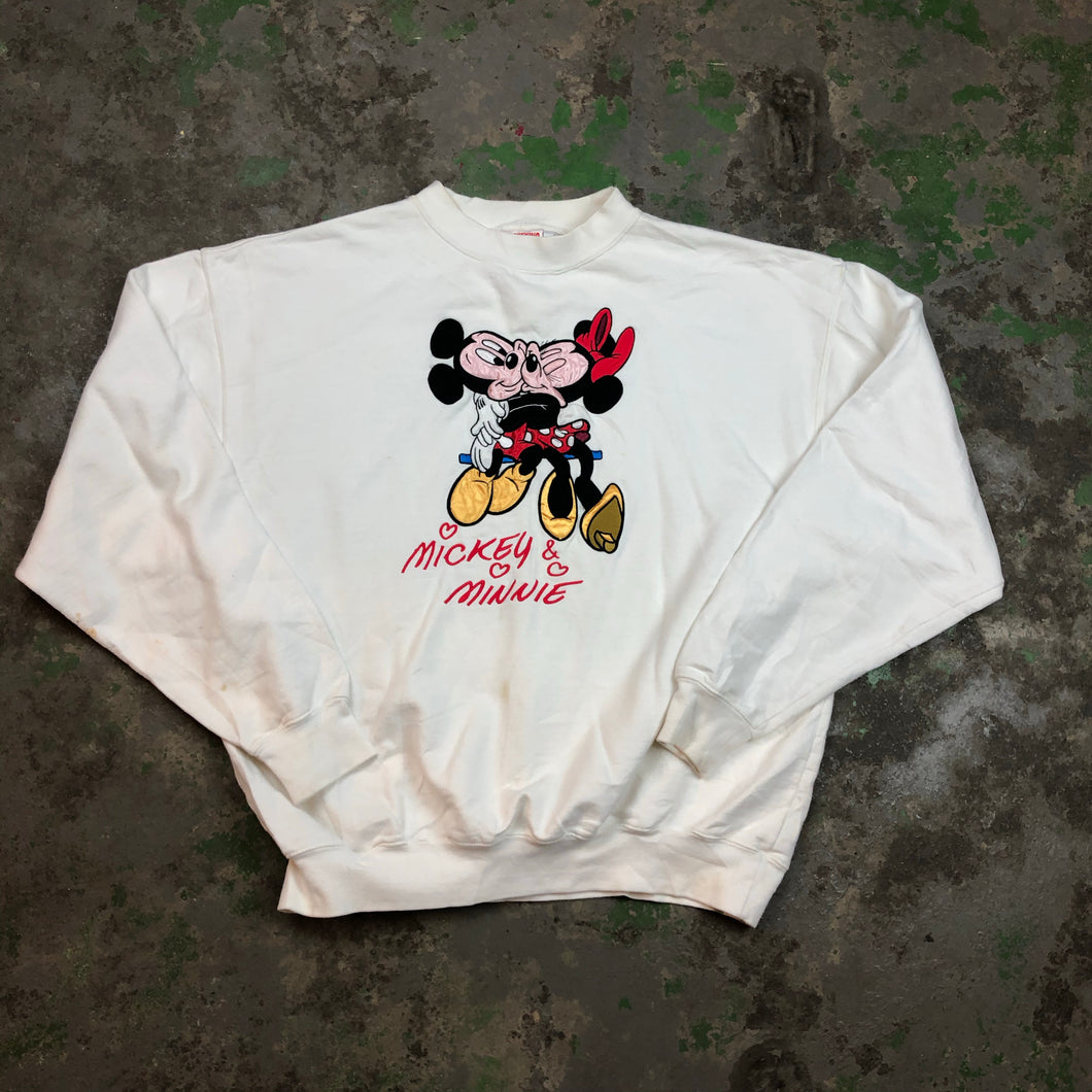 Embroidered Mickey Crewneck