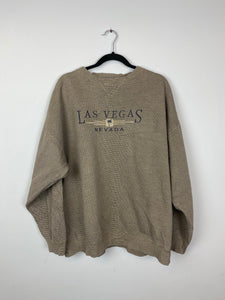 Embroidered Las Vegas crewneck