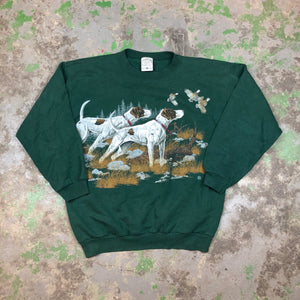 Front and back pointer Crewneck