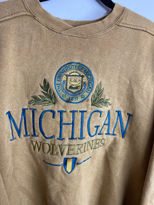 Embroidered Michigan crewneck