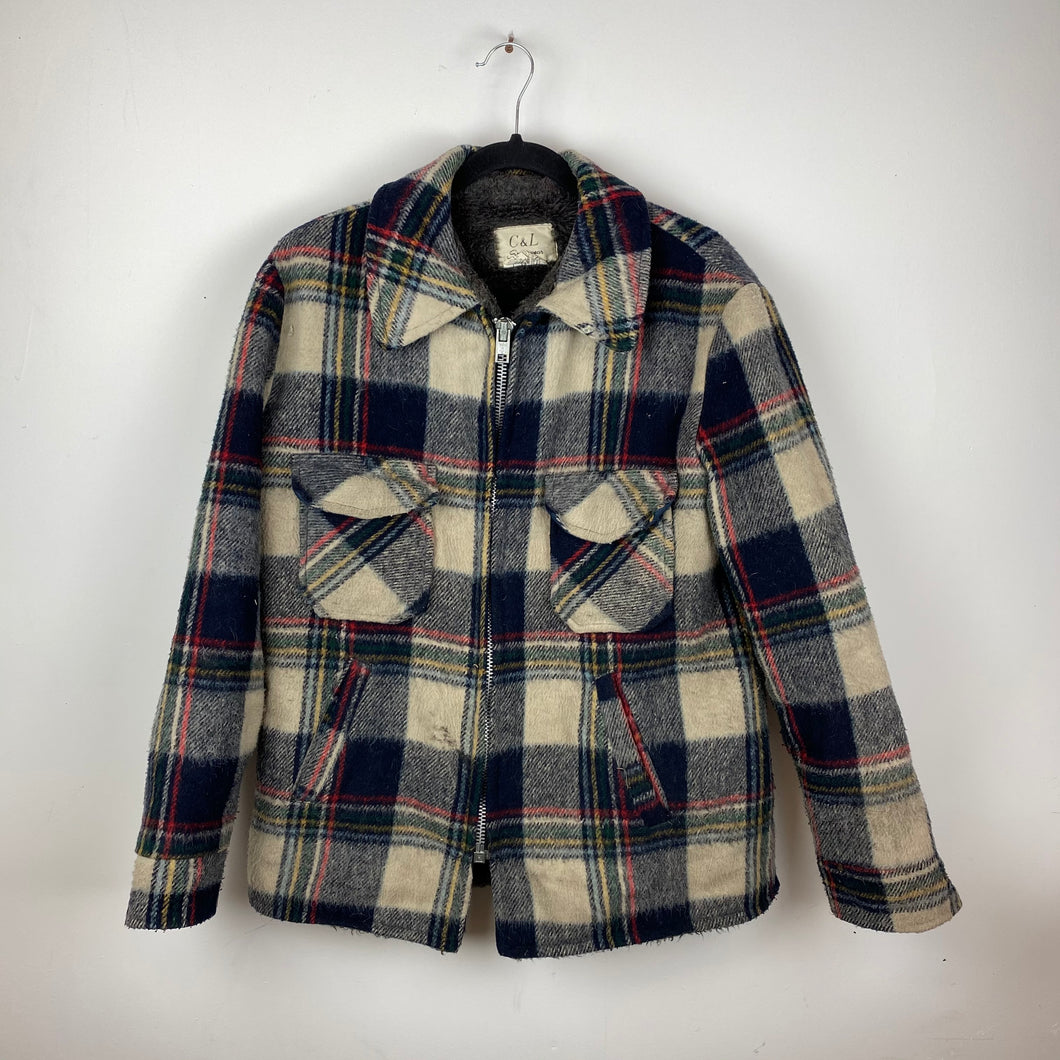 Heavy full zip flannel jacket