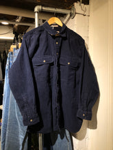Load image into Gallery viewer, Navy Cord Button up