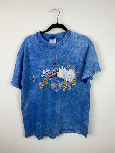 90s Stone Wash Bird T shirt - S/M