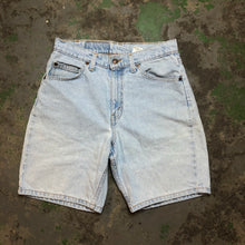Load image into Gallery viewer, Orange tab Levi's hemmed shorts