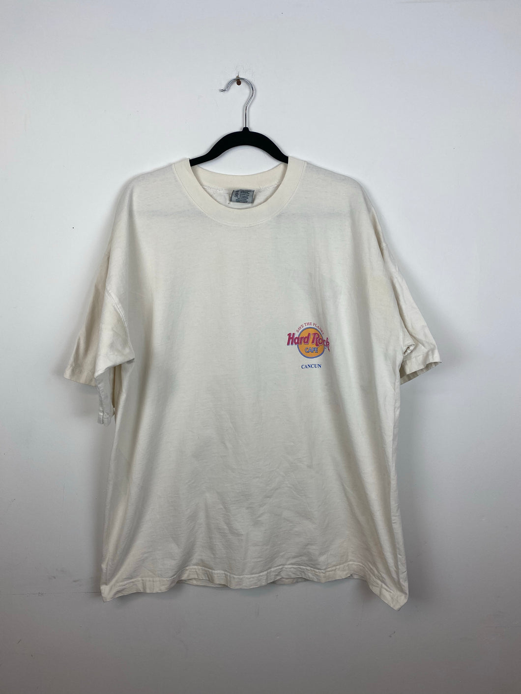 Front and back HardRock Cancun t shirt
