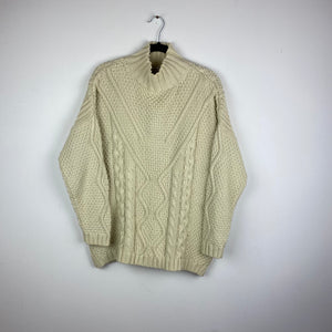 Oversized mock neck knit