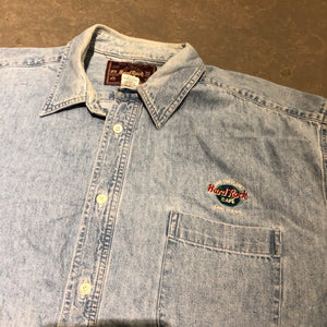 Hardrock Cafe Denim Button Up