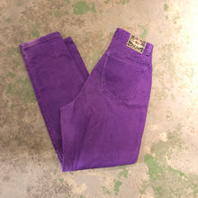 Load image into Gallery viewer, Purple High Waisted denim pants