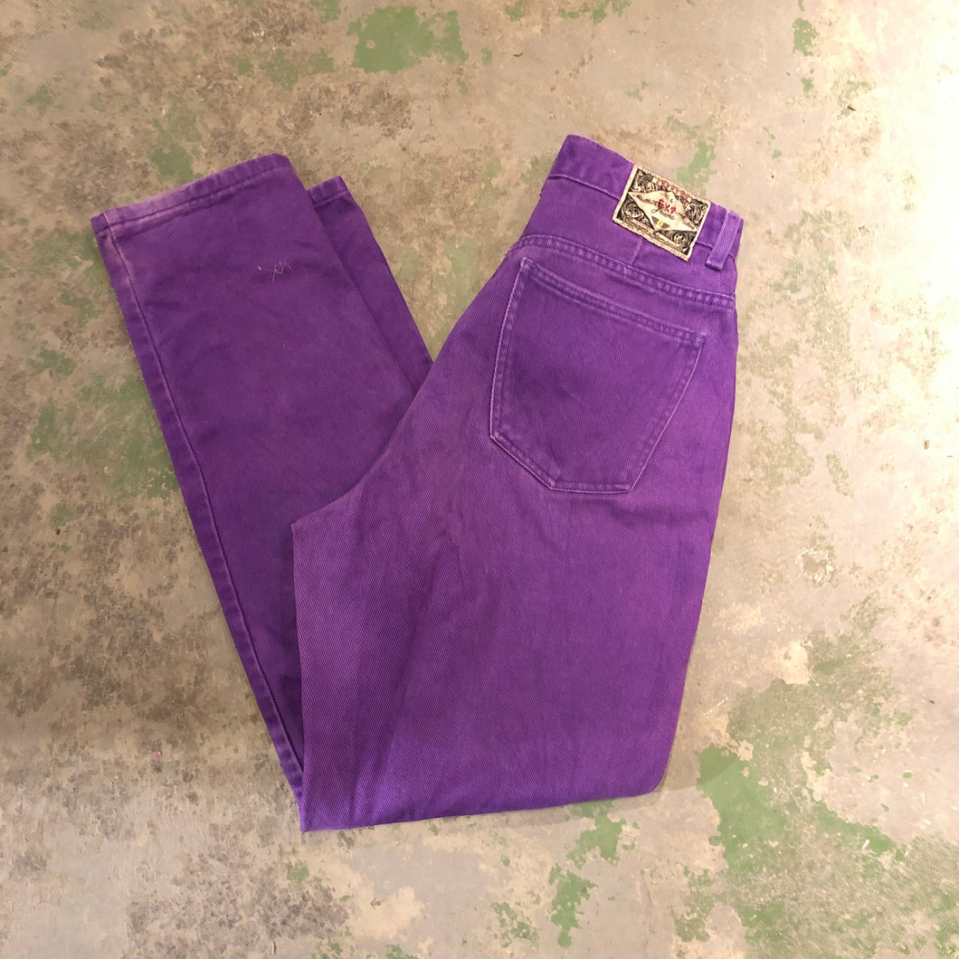 Purple High Waisted denim pants