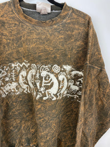 Vintage stone wash front and back crewneck