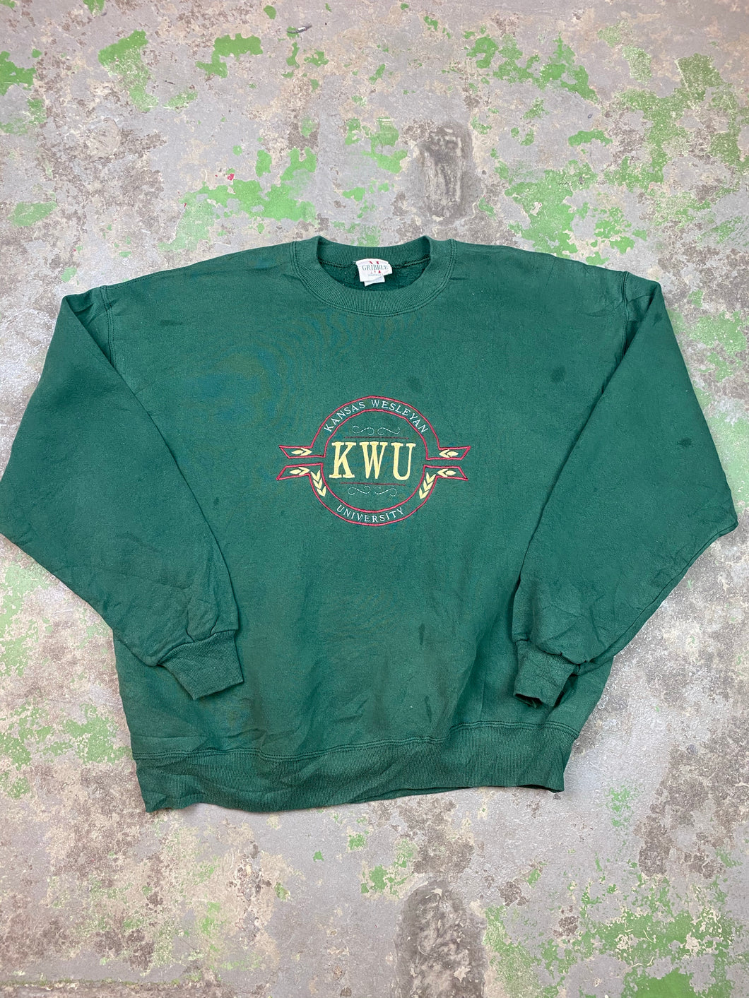 KWU embroidered crewneck