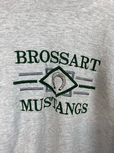 Embroidered Brossart Mustangs crewneck