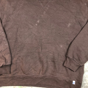 Brown Russell blank crewneck