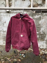 Load image into Gallery viewer, Burgundy Carhartt Jacket