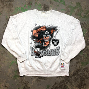 Front and back raiders Crewneck
