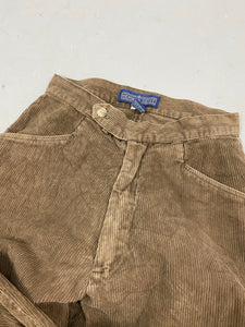 Light brown corduroy trousers