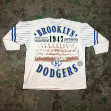 Load image into Gallery viewer, 90s dodgers quarter sleeve t-shirt