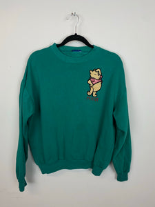 90s Teal Embroidered Pooh Crewneck - XS