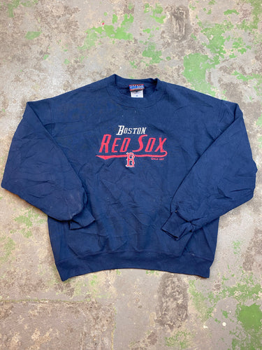 Embroidered Boston crewneck