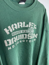 Load image into Gallery viewer, Vintage front and back Harley Davidson crewneck
