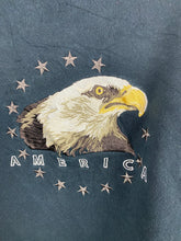 Load image into Gallery viewer, Oversized embroidered America crewneck