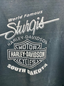 Faded front and back Harley Davidson t shirt