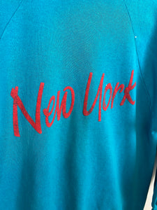 80s light blue New York crewneck