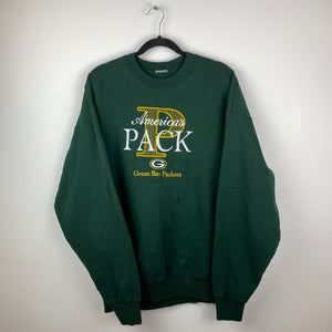 Embroidered Green Bay Packers crewneck