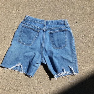 Vintage Light-wash Denim shorts