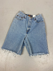 Vintage high waisted Route 66 frayed Denim shorts - 24in