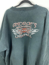 Load image into Gallery viewer, Thrashed oversized Harley Davidson crewneck