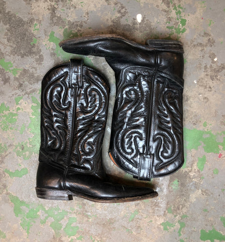Vintage leather cowboys boots