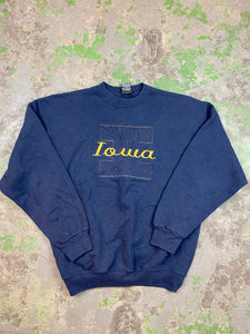 Embroidered Iowa crewneck