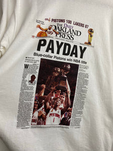 Pistons newspaper t shirt