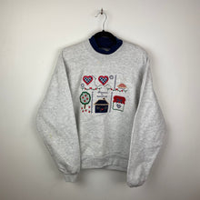 Load image into Gallery viewer, Embroidered happiness is homemade crewneck