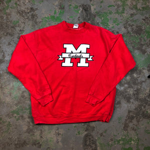 Embroidered cardinals Crewneck