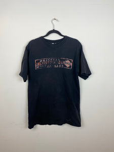 Faded Harley Davidson front and back t shirt