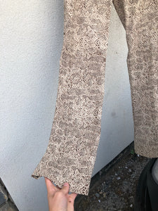 Vintage Patterned Pants With Slight Flare