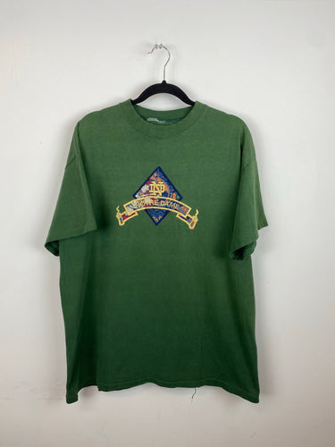 Vintage embroidered Notre Dame t shirt - L
