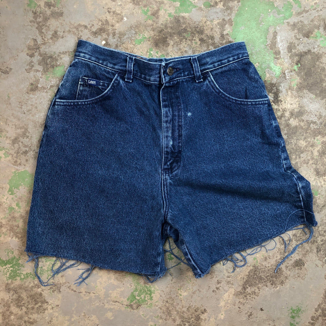 Dark wash Lee denim shorts