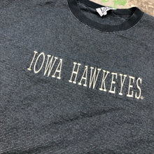Load image into Gallery viewer, Embroidered striped Iowa hawks t shirt