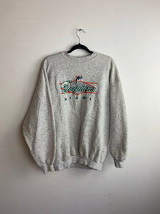 90s embroidered Miami dolphins crewneck