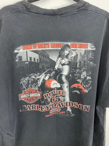 Front and back faded Harley Davidson t shirt