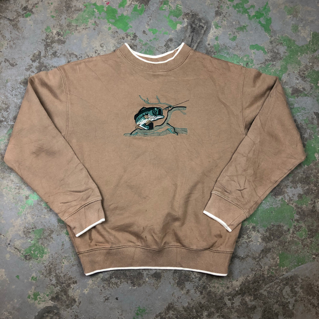 Embroidered bass Crewneck