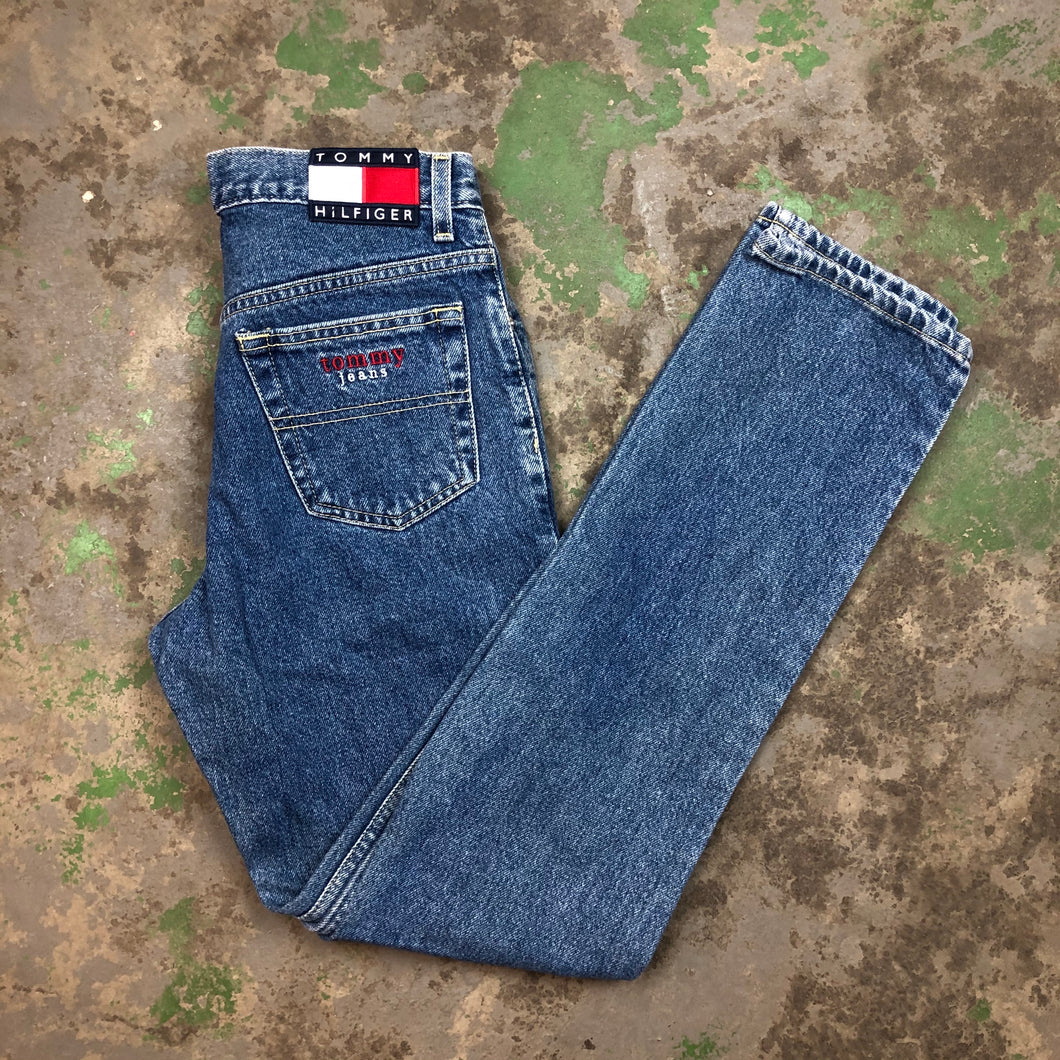 Tommy embroidered denim