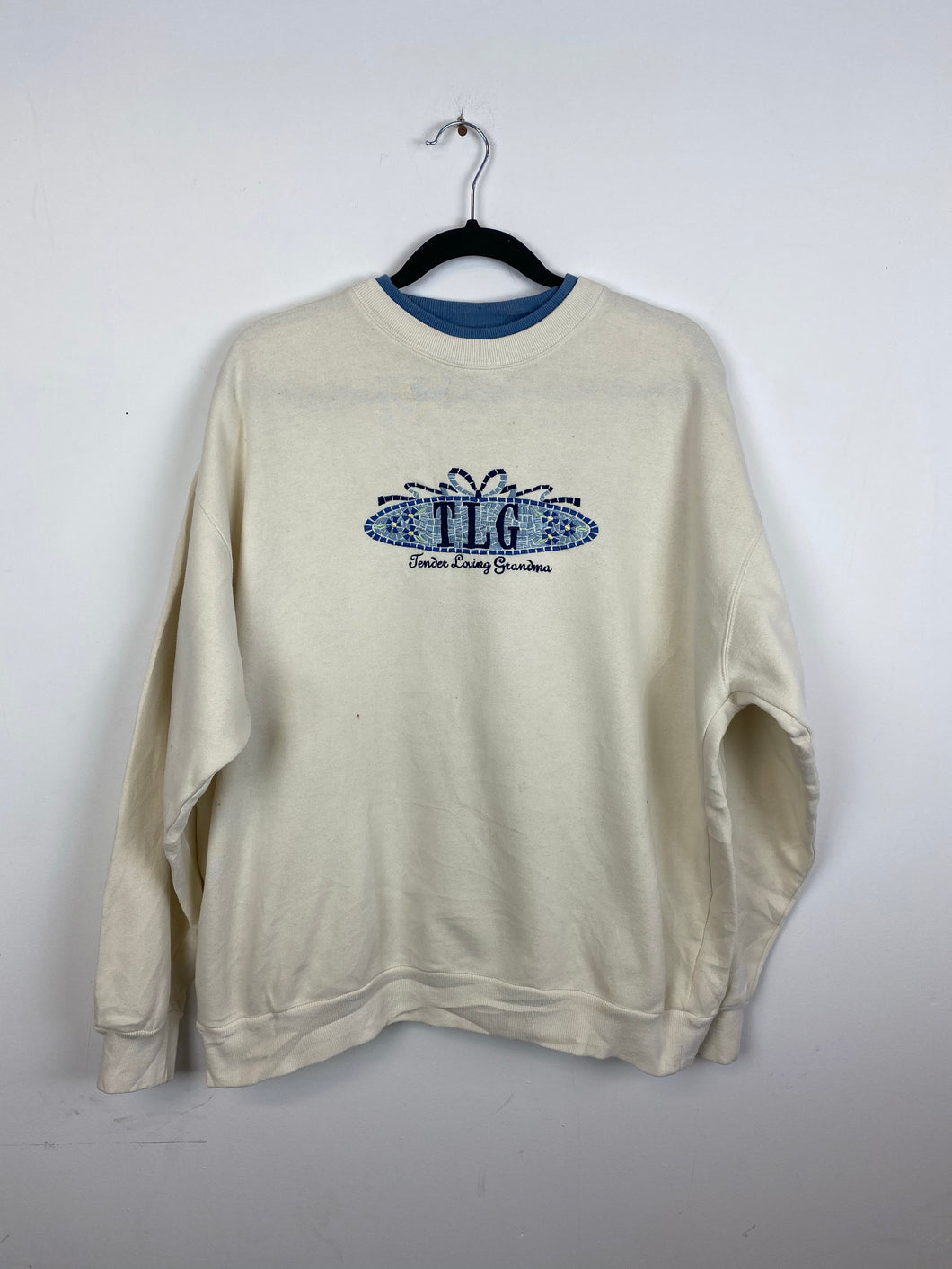 90s embroidered Tender loving grandma crewneck