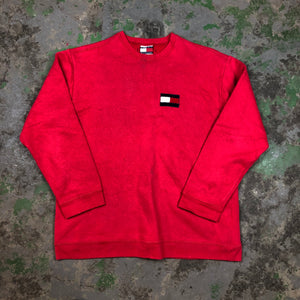Tommy Crewneck with fuzzy logo
