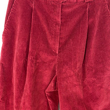 Load image into Gallery viewer, Vintage red cord pants