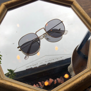 Circle Shades With Gold Frames
