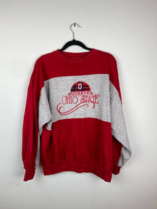 Colour blocked Ohio State Buckeyes crewneck